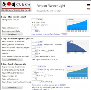 cr cie pension planner light crcie
